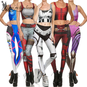 Party Crop Top Legging Set- Cosplay Costume - galaxiyan
