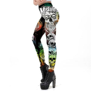 Halloween Ghost Ankle Leggings - galaxiyan