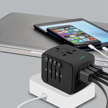 Load image into Gallery viewer, Universal Travel Adapter All-in-one with 4 ports USB - galaxiyan