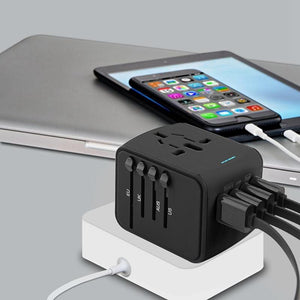 Universal Travel Adapter All-in-one with 4 ports USB - galaxiyan