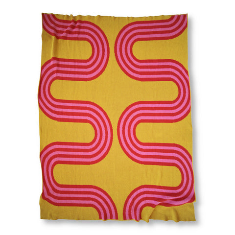 78th Street Throw Blanket (Citrine)