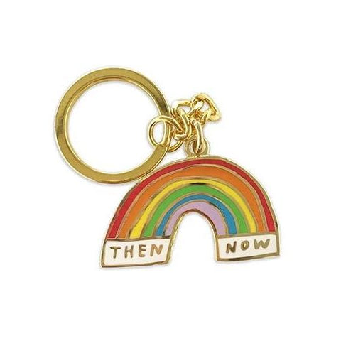 Then & Now Keychain