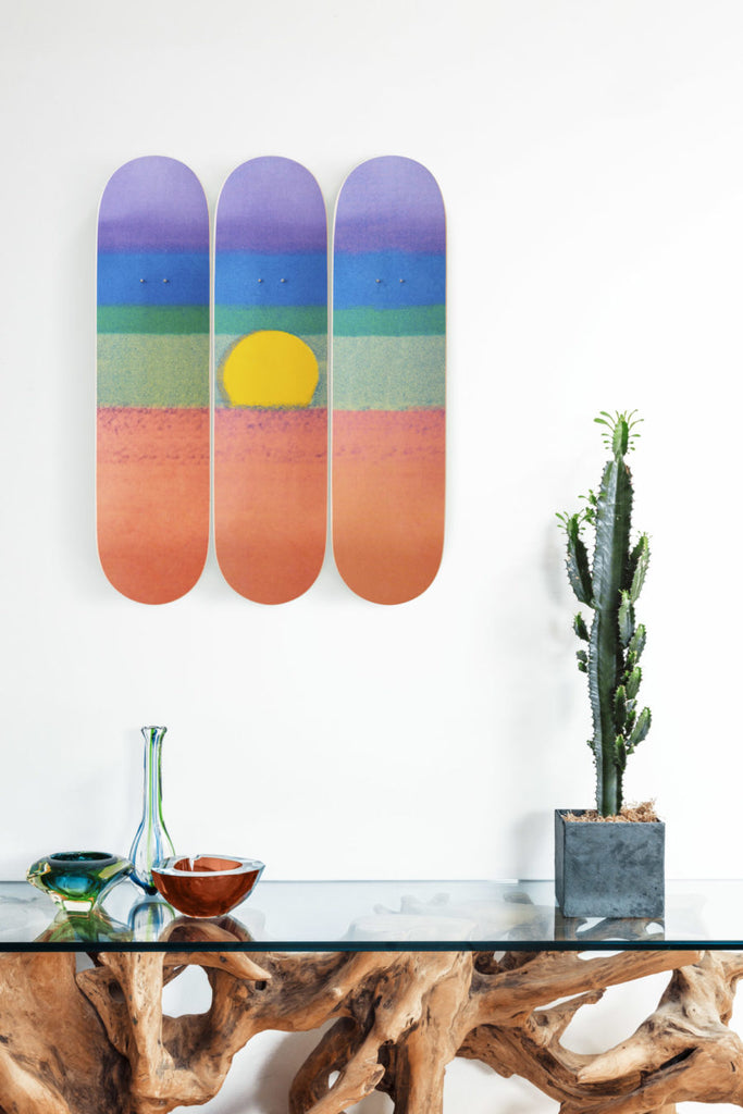 Andy Warhol Sunset (Orange) Skate Decks from The Skateroom