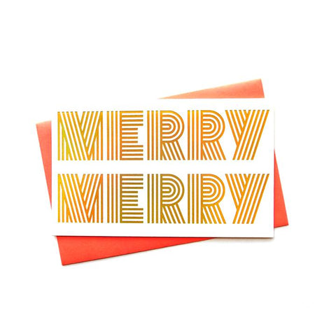 Merry Merry Holiday Greeting Card