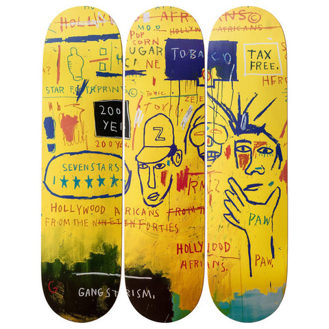 Jean-Michel Basquiat:  Hollywood Africans Skate Deck