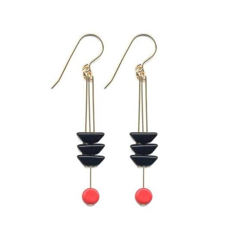 Black Arrow with Red Earrings by I. Ronni Kappos