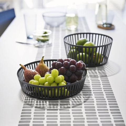Tower Striped Steel Fruit Basket