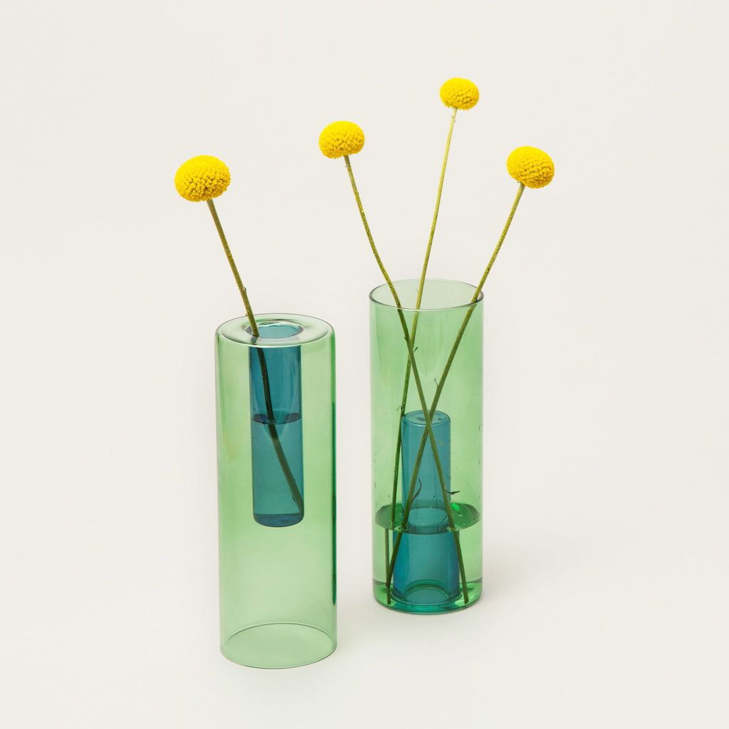Reversible Glass Flower Vase