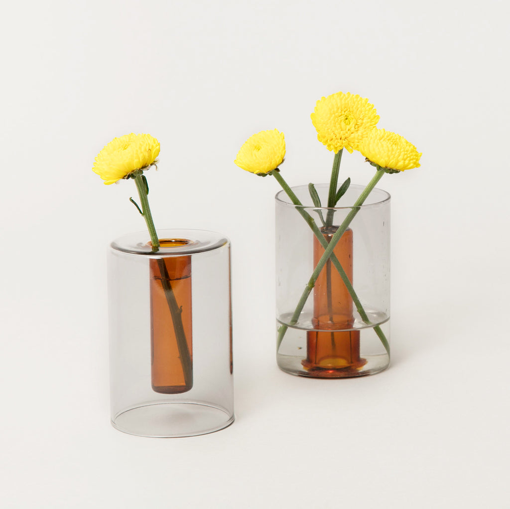 Small Reversible Glass Vase by Block Design