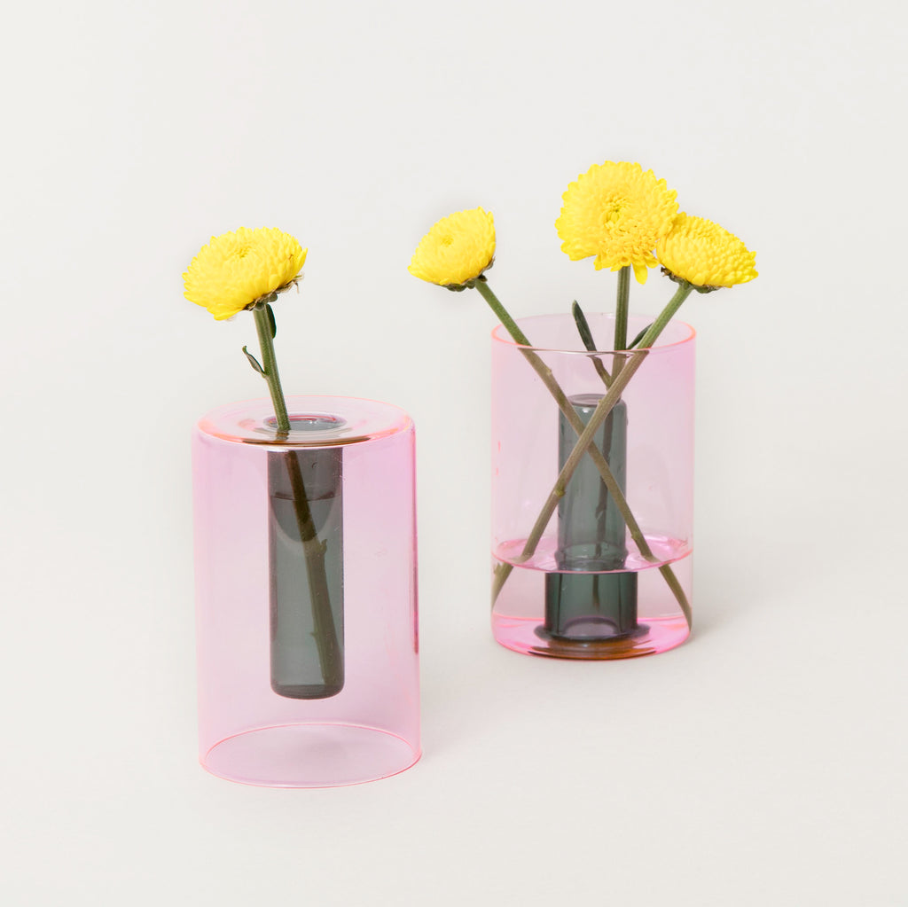 Small Reversible Glass Flower Vase