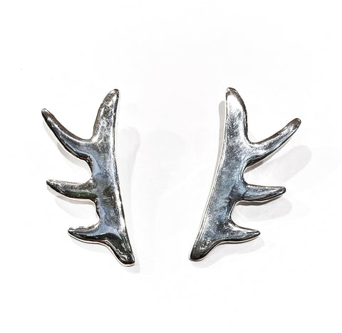 Eternal Metal Angel Bone Earrings by Zona Baari