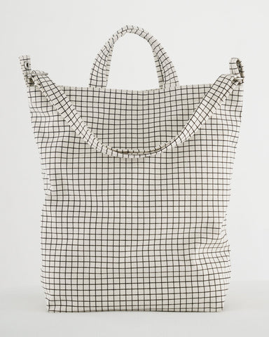 Natural Grid Duck Bag from Baggu