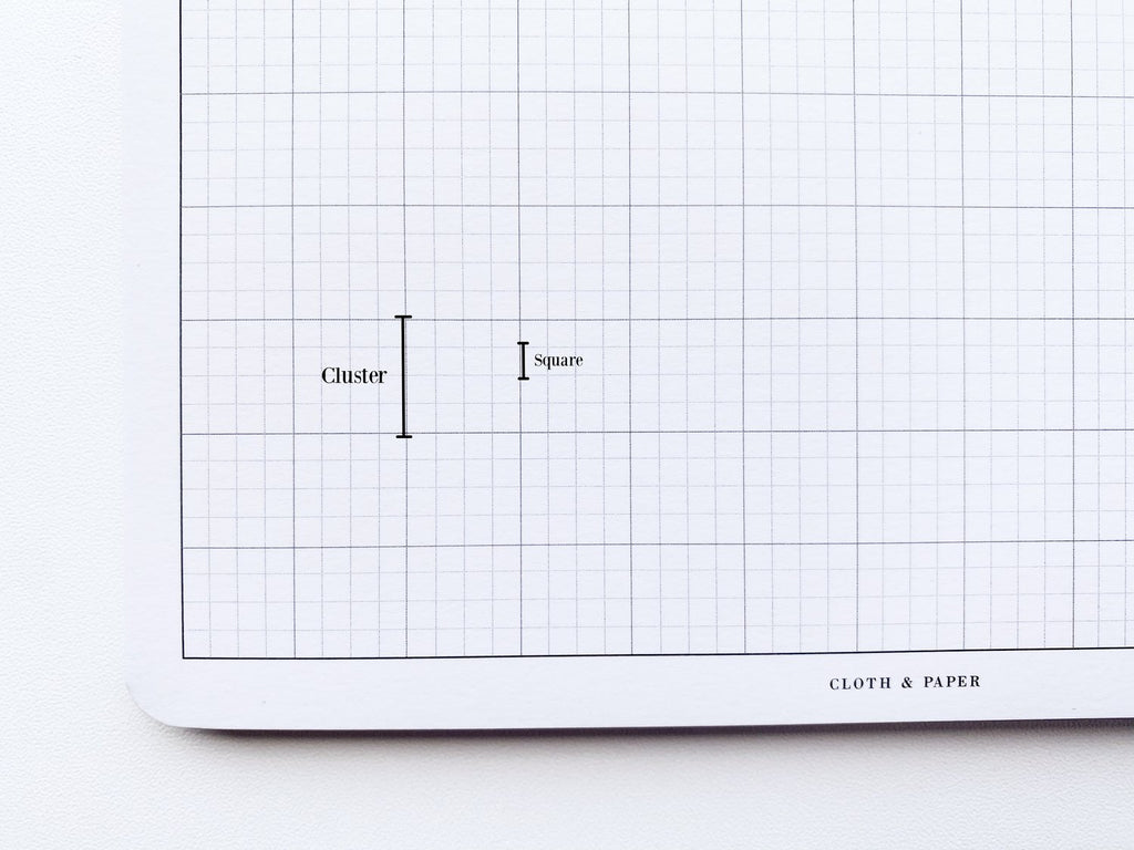 Engineering Grid Desk Pad by Cloth & Paper