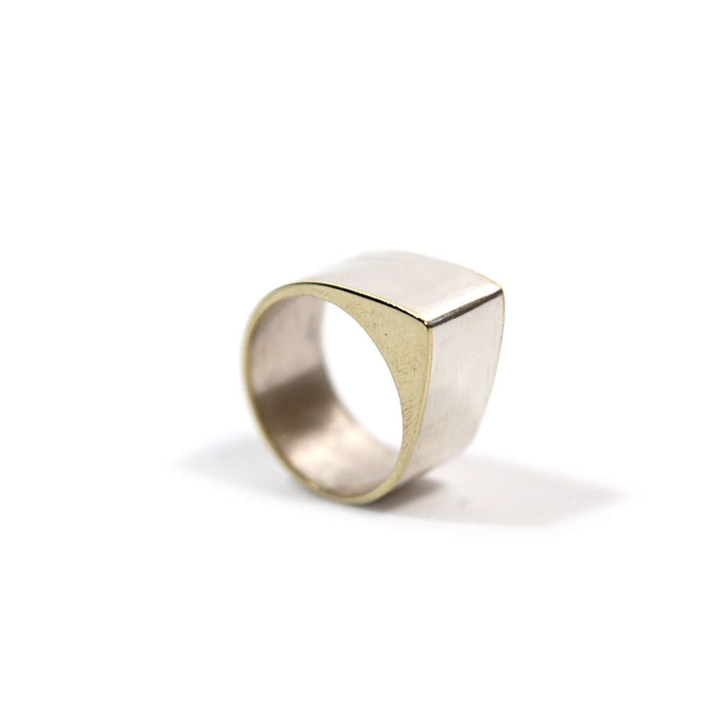 Silver & Brass Peak Ring by Formina