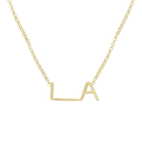 Maya Brenner x LA Original Logo Necklace