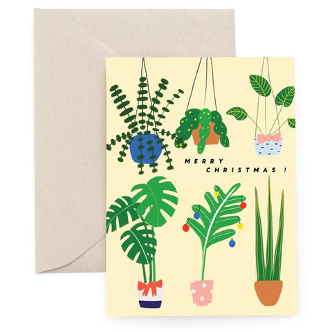 Greenhouse Christmas Greeting Card