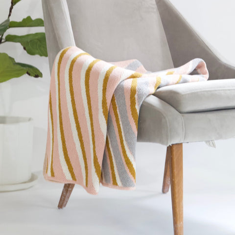 Sliding Stripes Throw Blanket