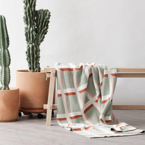 Windowpane Throw Blanket