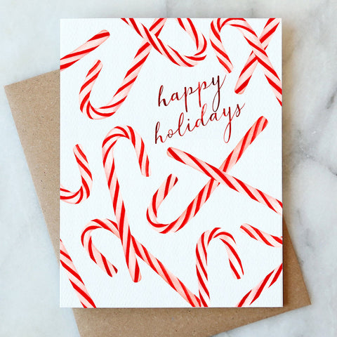 Candy Canes Holiday Greeting Card