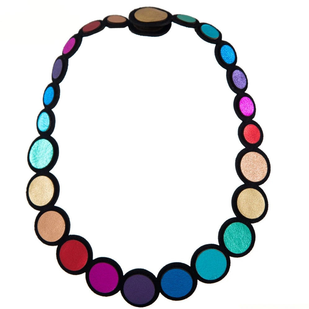 Rainbow Necklace by Iskin Sisters