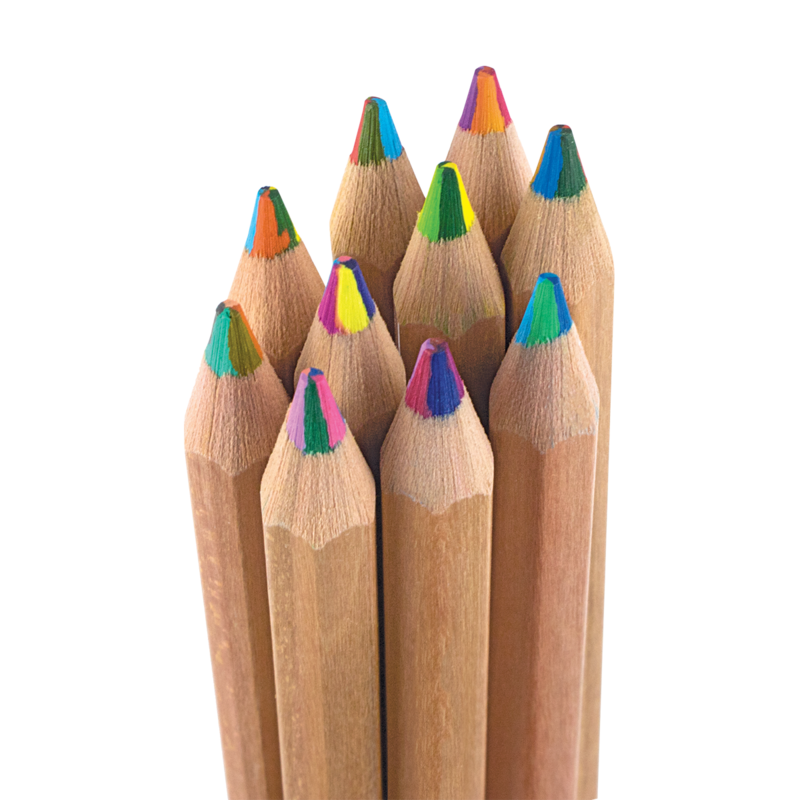 Kaleidoscope Multi-Colored Pencils Set of 10