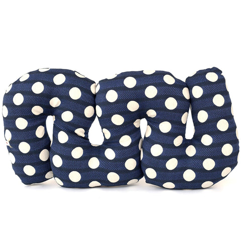 Blueberry Polka Dot Squiggle Pillow by Rose Greenberg