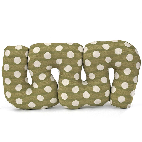 Green Grapes Squiggle Pillow by Rose Greenberg