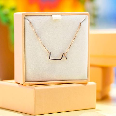 LA Original Logo Necklace by Maya Brenner