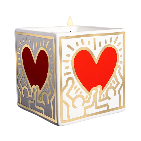 Keith Haring Red Heart Candle