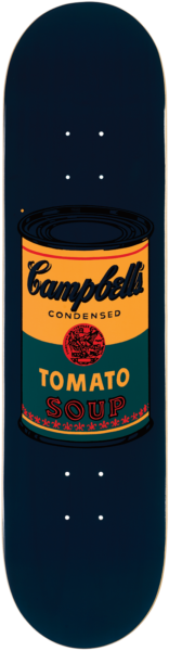 Andy Warhol Colored Campbell's Soup Skate Deck
