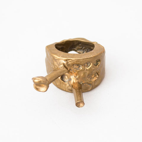 Sylvie Auvray Bronze Face Ring