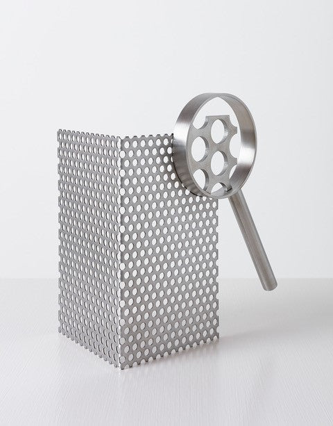 Ricky Swallow: Magnifying Glass with Perforated Metal