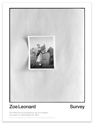 Zoe Leonard Survey Exhibition Poster