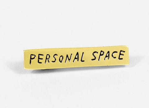 Personal Space Lapel Pin by Adam J. Kurtz