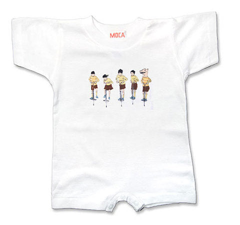 Marcel Dzama Infant Romper: Pogo Sticks