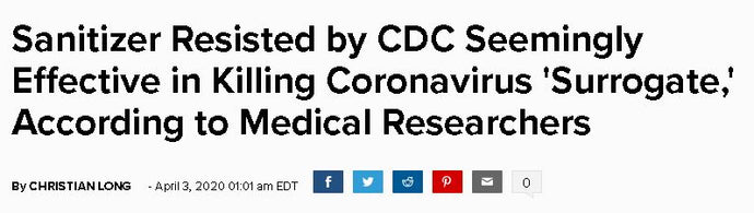 popculture Reporting on BZK-Based Sanitizers and Coronavirus