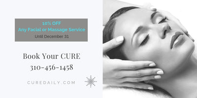 Book Your CURE for a 10% Discount on Facial or Massage Service