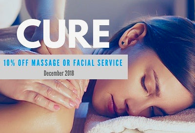 Get 10% Off Any Massage or Facial Service During December 2018