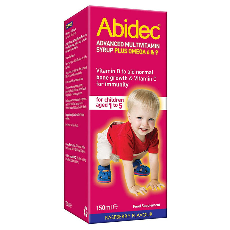 Abidec Advanced Multi Vitamin Syrup Plus Omega 6 & 9