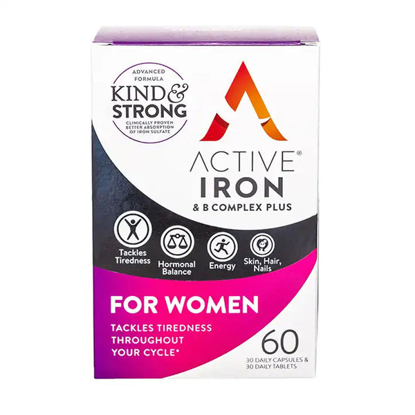 Active Iron & B Complex Plus for Women 60 pack