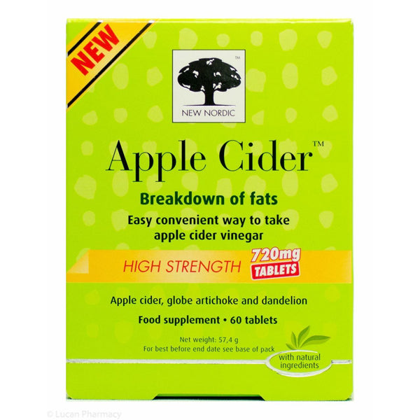 New Nordic Apple Cider High Strength 720 60 Tablets