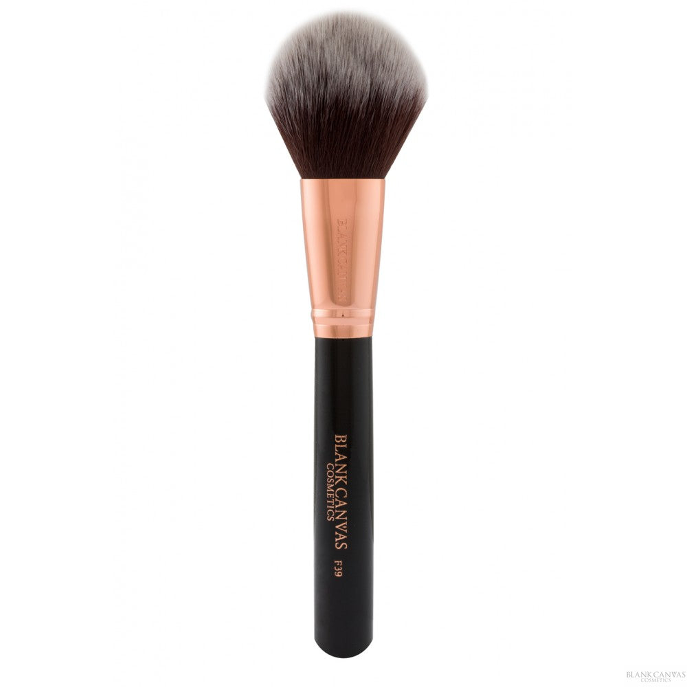 Load image into Gallery viewer, Blank Canvas F39 Dome Powder Brush Rose Gold/Black