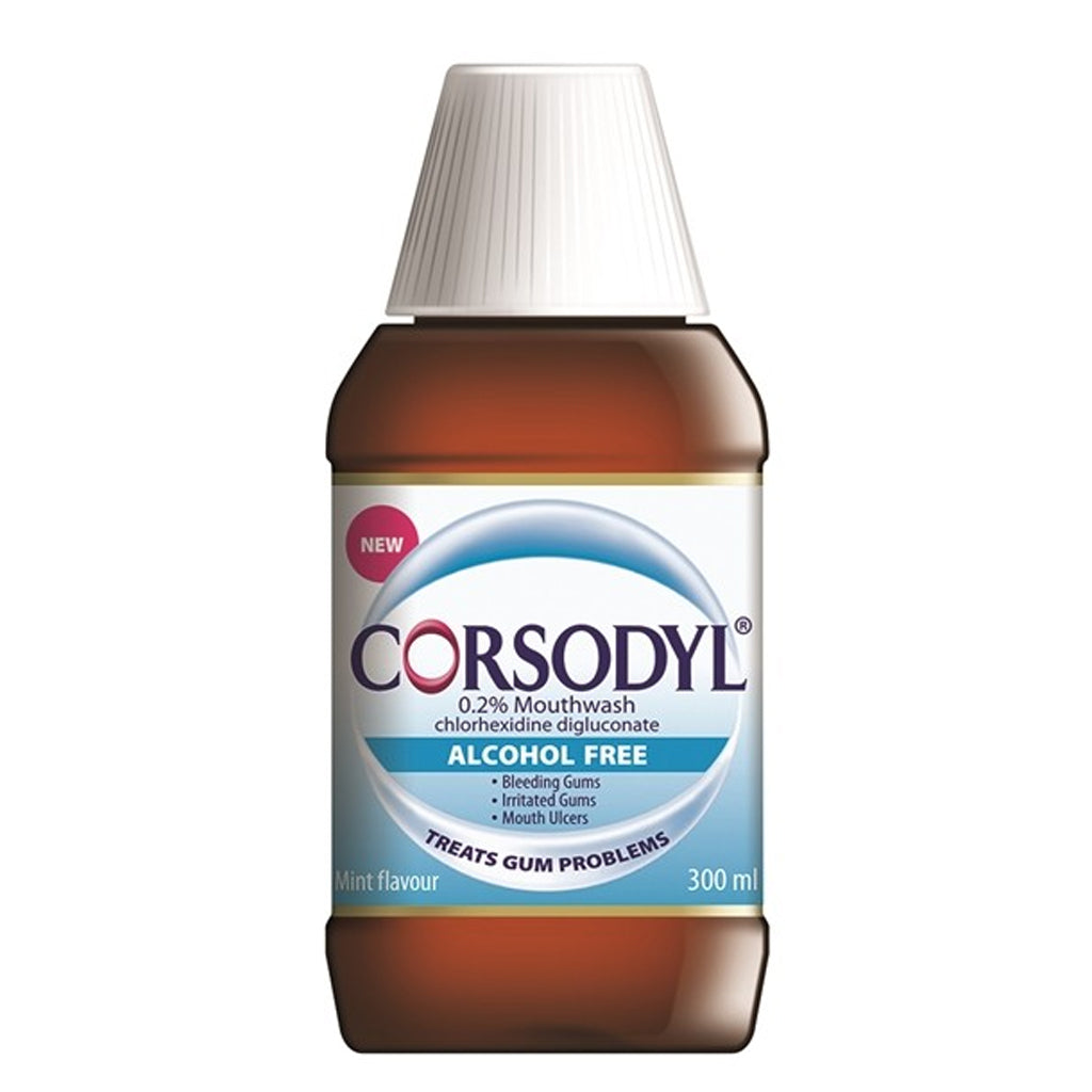 Load image into Gallery viewer, Corsodyl Mint Alcohol Free Mouthwash 300ml