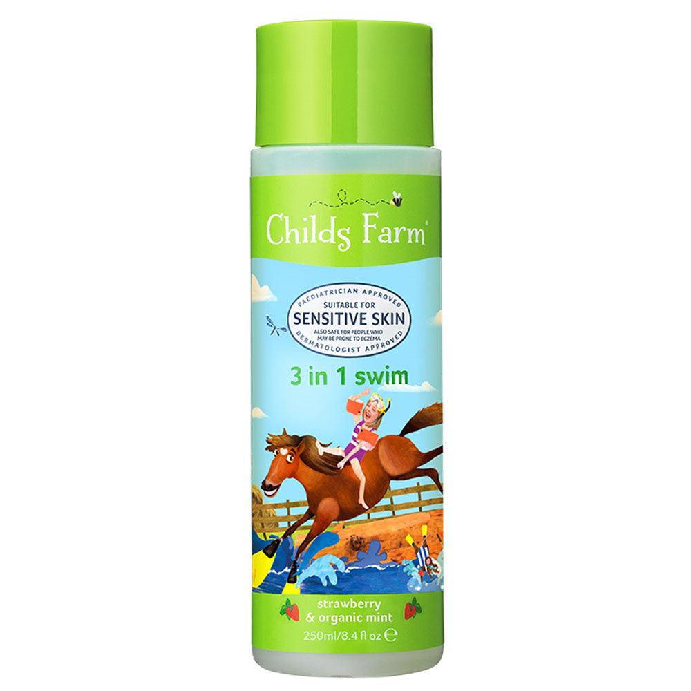 Load image into Gallery viewer, Childs Farm 3 in 1 Swim, Strawberry & Organic Mint 250ml
