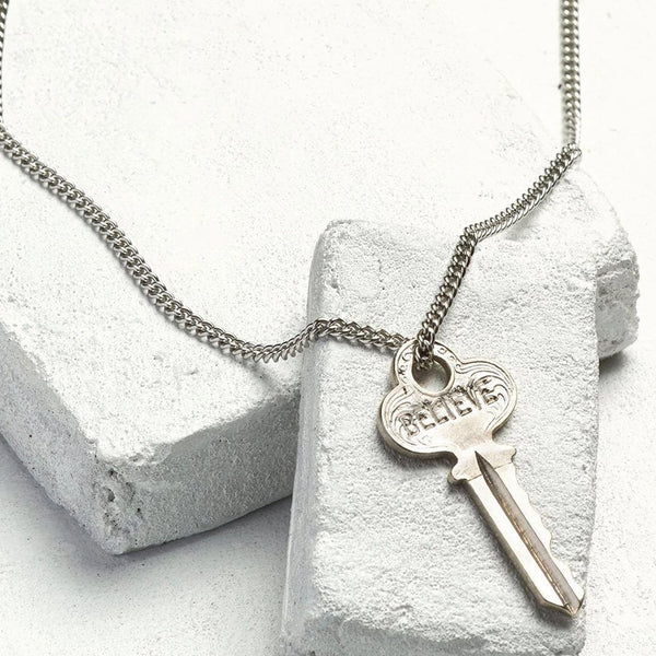 The Giving Keys Classic Key Necklace - Believe