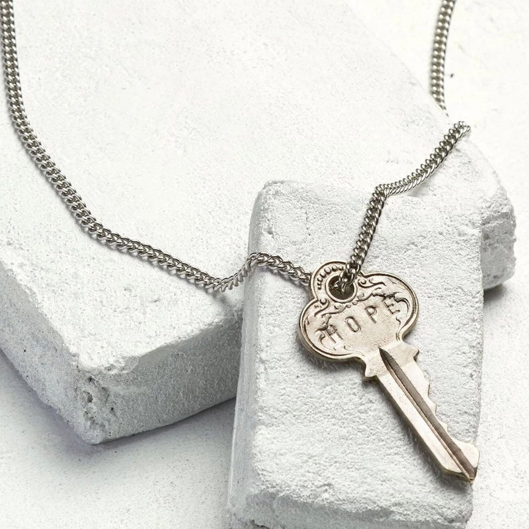 Load image into Gallery viewer, The Giving Keys Classic Key Necklace - Hope