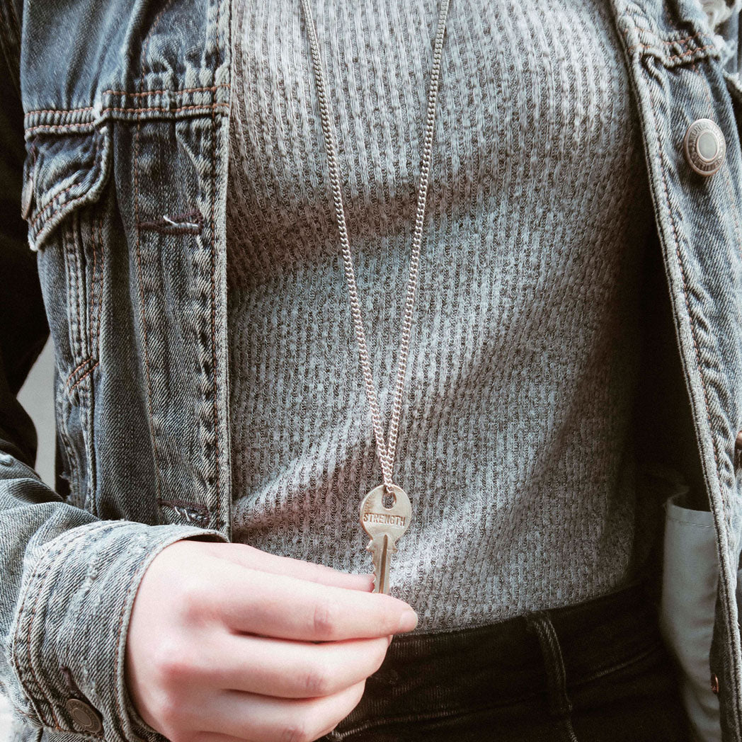 Load image into Gallery viewer, The Giving Keys Classic Key Necklace - Strength