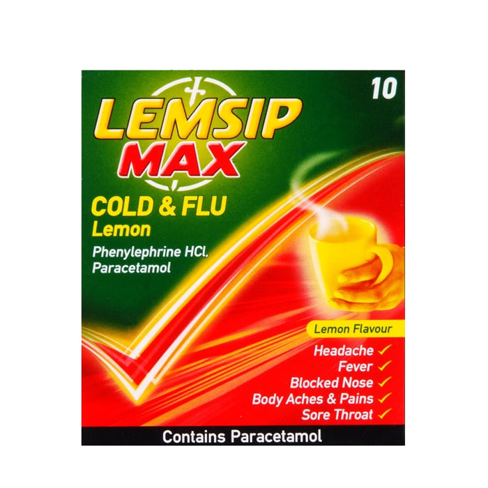 Load image into Gallery viewer, Lemsip Max Cold & Flu Lemon 10pack