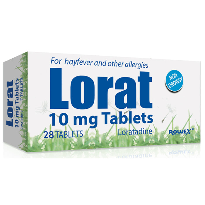 Lorat 10mg Loratidine Tablets 28's