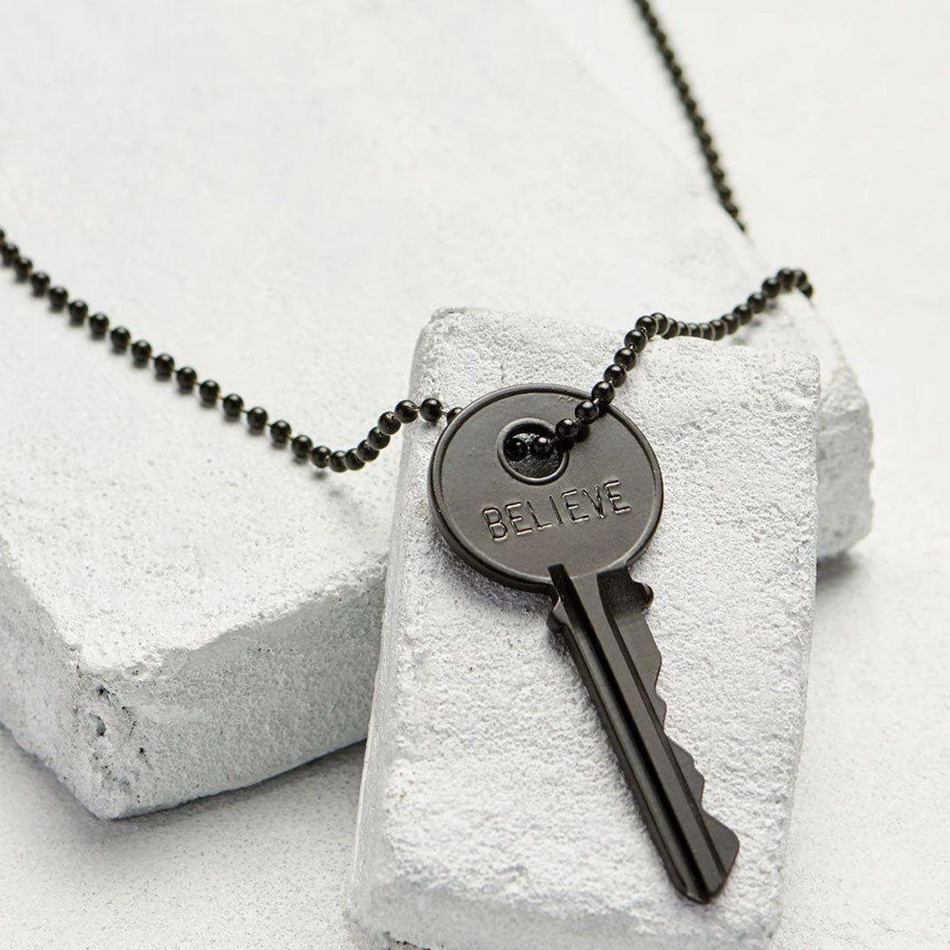 Load image into Gallery viewer, The Giving Keys Matte Black Key Necklace
